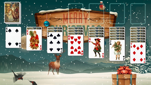 Christmas Solitaire.Christmas Solitaire